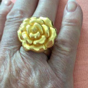 24 kt gold flower ring, 9